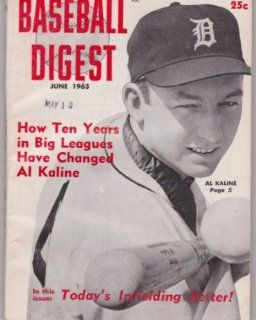 Al Kaline (Baseball Digest) (June 1963) (Detroit Tigers) : Sports Related Trading Cards : Sports & Outdoors