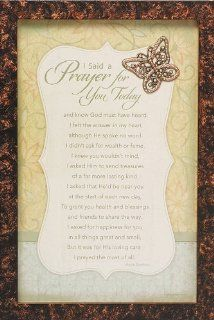 "Abbey Press I Said a Prayer for You Today Framed Print with Butterfly 8"" x 12"""