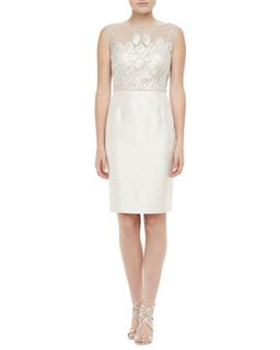 Womens Sleeveless Lace Cocktail Dress   Kay Unger New York   Pearl (4)