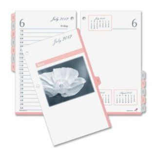 "Day timer Products   Desk Calendar Refill, 2PPD, 2 Hole Punched, 3 1/2""x6""   Sold as 1 EA   Show your support for breast cancer research with a Pink Ribbon Desk Calendar Refill. Day Timer contributes 10 percent of the proceeds to The Breast Cance"