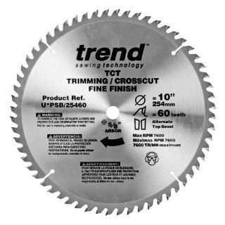Trend PSB/25460 Professional Saw Blade 10 Inch by 60 Tooth, 5/8 Inch Bore Fine Finish Saw Blade   Circular Saw Blades