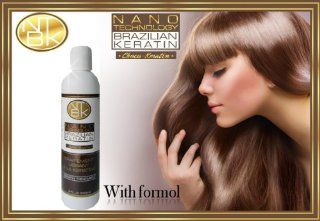 Nano Technology Brazilian Keratin Treatment professional system Effective for afro resistant hair Amazing results WHITH FORMOL 8oz!! : Hair And Scalp Treatments : Beauty