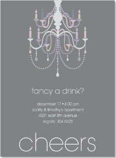 Noteworthy Collections Formal Party Invitations Holiday Chandelier Silver Invitation   Pack of 20: Health & Personal Care