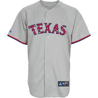 MAJESTIC ATHLETIC Mens Texas Rangers July 4th Stars And Stripes Replica Road