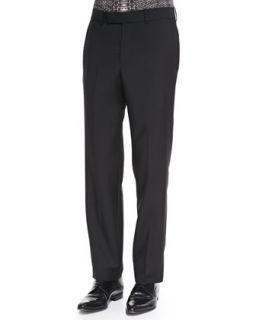 Mens Wool/Mohair Dress Pants, Black   Alexander McQueen   Black (34/50)