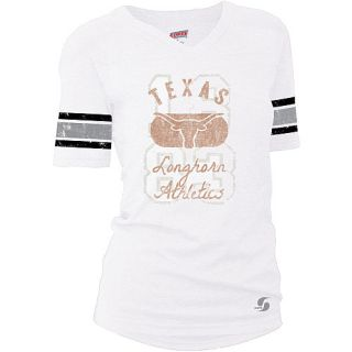 SOFFE Womens Texas Longhorns Drop Tail Football Alternate Logo Short Sleeve T