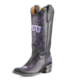 TCU Tall Gameday Boots, Black   Gameday Boot Company   Black (36.0B/6.0B)