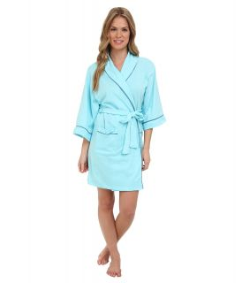 BOTTOMS O.U.T GAL Knitted Jersey Kimono Robe Womens Pajama (Blue)