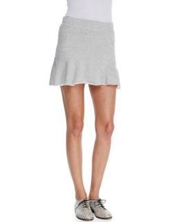 Womens Flounce Hem Knit Skirt   Pam & Gela   Heather grey (MEDIUM)