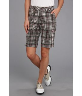 PUMA Golf Plaid Tech Bermuda Short Womens Shorts (Gray)
