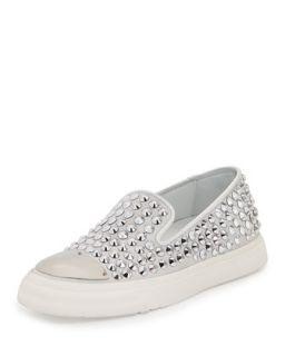 Studded Cap Toe Skate Shoe, Bianco   Giuseppe Zanotti   Bianco (38.0B/8.0B)