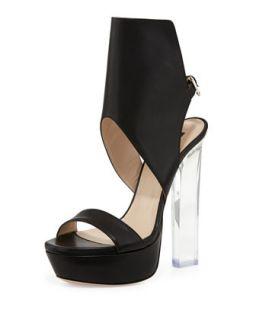 Joanne Acrylic Heel Glove Sandal   Ruthie Davis   Black (37.5B/7.5B)