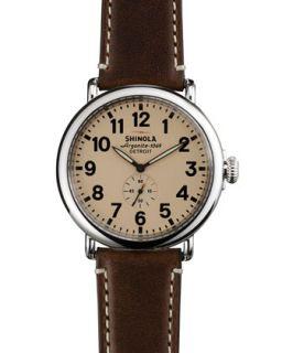 47mm Runwell Mens Watch, Cream/Dark Brown   Shinola   (47mm ,7mm )