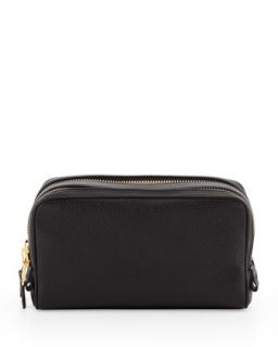Mens Double Zip Toiletry Bag, Black   Tom Ford   Black