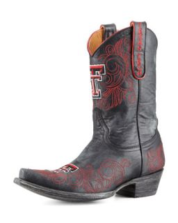 Texas Tech Short Gameday Boots, Black   Gameday Boot Company   Black (37.5B/7.