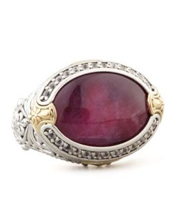 Oval Silver & 18k Gold Ruby/Quartz Doublet Ring   KONSTANTINO   Silver/Gold (7)