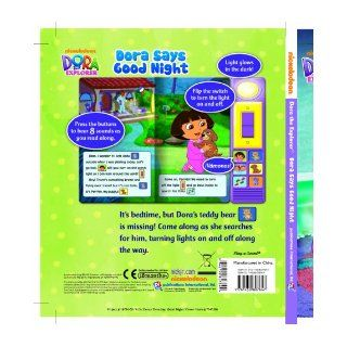 Nickelodeon Dora the Explorer: Dora Says Good Night (Dora the Explorer: Play a Sound): Editors of Publications International Ltd., Jennifer H. Keast, A & J Studios: 9781450807647:  Kids' Books