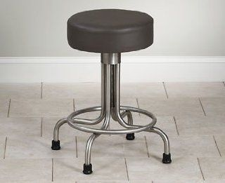 CLINTON STAINLESS STEEL STOOLS Same as SS 2142 w/rubber feet Item# SS 2149: Health & Personal Care