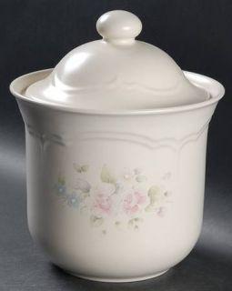 Pfaltzgraff Tea Rose Large Canister, Fine China Dinnerware   Stoneware,Pink Rose