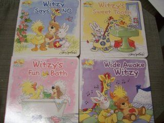 "Little Suzy's Zoo Set of 4 Board Books, 7"" X 7"" Each ~ Witzy's Fun Bath, Wide Awake Witzy, Witzy Says No, Witzy's Sweet Tooth: Toys & Games"