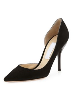 Willis Suede Half dOrsay Pump, Black   Jimmy Choo   Black (36.5B/6.5B)