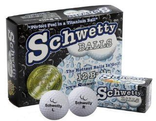 Schwetty Golf Balls   The Name Says It Al 10 White / 2 Blue Balls : Trick And Novelty Golf Balls : Sports & Outdoors