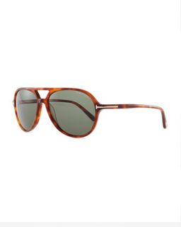 Mens Jared Acetate Sunglasses, Light Brown   Tom Ford   Light brown