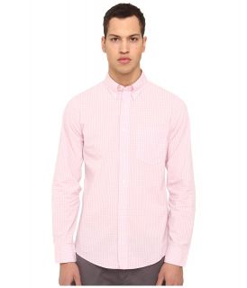 Jack Spade Ernest Gingham Shirt Mens Long Sleeve Button Up (Pink)