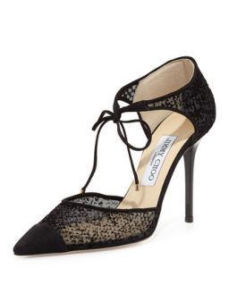 Vince dOrsay Mesh Tie Pump, Black   Jimmy Choo   Black (35.5B/5.5B)