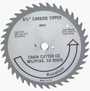Crain Cutter 804 6 1/2 Inch 40 Tooth Wood Saw Blade with 5/8 Inch Arbor for 810 SuperSaw   Handsaw Blades