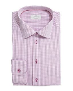 Mens Graph Check Dress Shirt, Raspberry   Eton   Raspbrry (15 1/2)