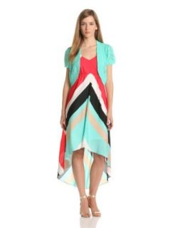 AGB Women's Sleeveless V Neck Dress With Bolero at  Women�s Clothing store