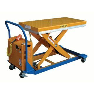 "Beacon DC Powered Scissor Carts; Platform Size (WxL): 24"" x 48""; Service Range: 9 1/4"" to 42 1/2""; Capacity (LBS): 1, 000; Lift Speed: 15 Sec.; Model# BCART 24 10 DC: Personnel Scissor Lifts: Industrial & Scientific"