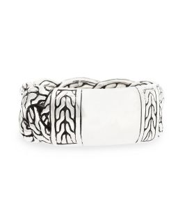 Mens Sterling Silver Braid Band Ring   John Hardy   Silver (10)