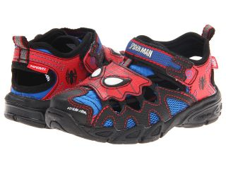 Stride Rite Spider Man Lighted Sandal Boys Shoes (Red)