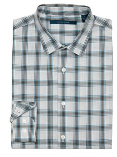 Perry Ellis Mens Background Plaid Shirt