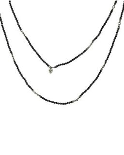 Bead & Silver Thorn Spacer Mens Chain   Stephen Webster   Silver