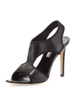 Urban Elastic Leather Sandal, Black   Diane von Furstenberg   Black (41.0B/11.