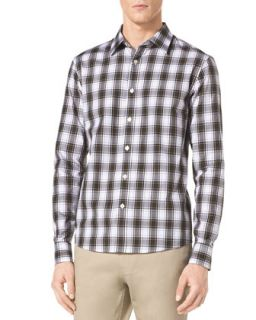 Mens Macauley Check Shirt   Michael Kors   Army melange (X LARGE)