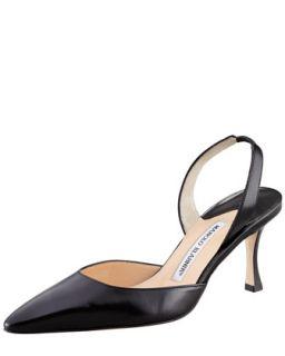 Carolyne Mid Heel Halter, Black   Manolo Blahnik   Black (38/8)
