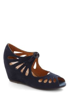Jeffrey Campbell Cutout Cookie Wedge in Blueberry  Mod Retro Vintage Heels