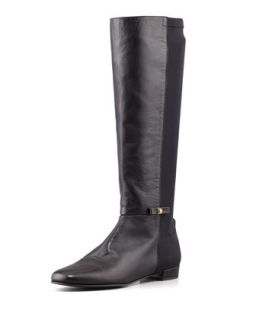 Stretch Back Napa Knee Boot, Black   kate spade new york   Black (38.5B/8.5B)