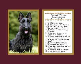 Scottish Terrier Property Laws Wall Decor Humorous Pet Dog Saying Gift   Decorative Plaques