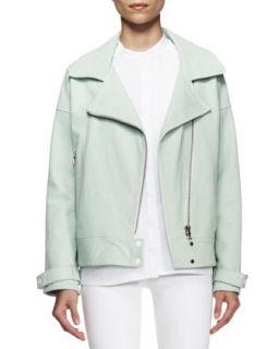 Womens Durham Leather Zip Jacket   J Brand Ready to Wear   Aero (MEDIUM)