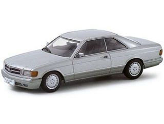 Mercedes 500 SEC W126 Silver Metallic 1/43 Autoart Diecast Car Model 56212: Toys & Games