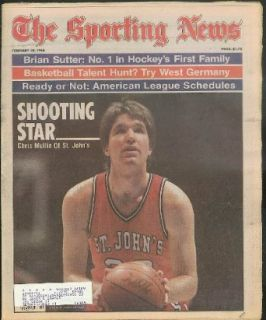 SPORTING NEWS Chris Mullin St John's Brian Sutter Lou Carnesecca 2/18 1985: Entertainment Collectibles