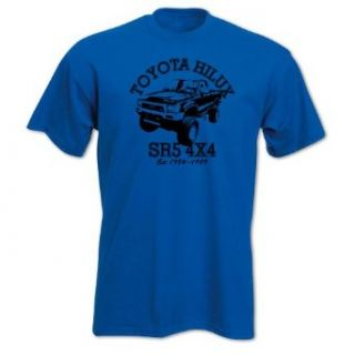 Bang Tidy Clothing Men's Petrolhead Toyota Hilux SR5 4x4 Car T Shirt: Clothing