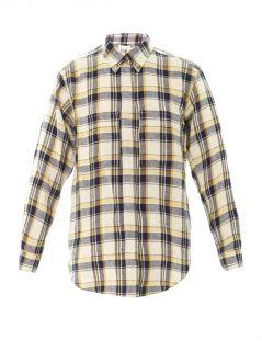 Upton flannel check boyfriend shirt  Isabel Marant Étoile  M