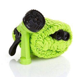 100ft 1piece Green Color Extra Water Hose with 8 Patterns Spray Gun Nozzle As Seen on Tv Expandable Water Hose : Garden Hoses : Patio, Lawn & Garden
