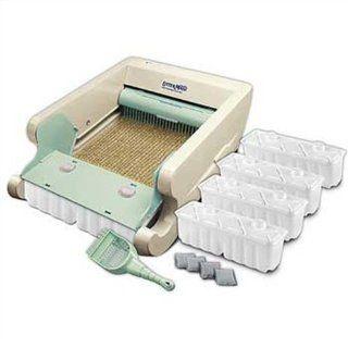 Littermaid Classic Series Automatic Self Cleaning Litter Box, Cream/Sage, Single Cat  Pet Litter